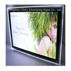Crystal fissato al muro LED Light Box e Picture Display Billboard