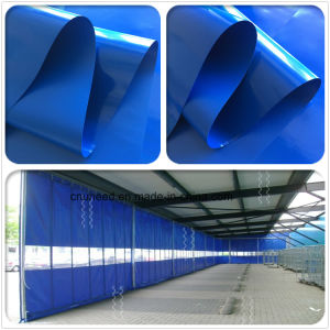 Parete divisoria blu e trasparente della tela incatramata industriale resistente del PVC