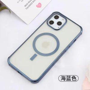 Última iPhone12, Mini, PRO, PRO Max Series Anti-Drop Telemóvel tampa protetora com pé magnético