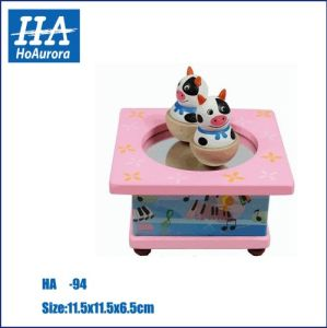 Ensino de madeira personalizado jogo Play Music Box brinquedos (HA-94)