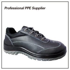 Cuero genuino diseño de moda Zapatos de Seguridad Industrial