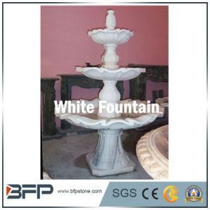 Белые мраморные травертина фонтан для украшения