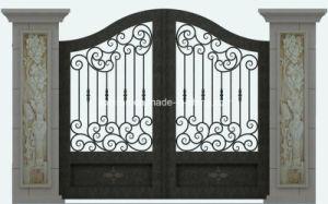 Griglia elegante del cancello della strada privata del ferro saldato di alta qualità