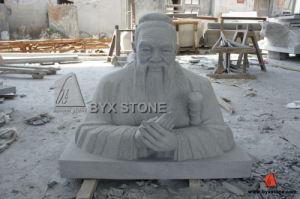 Confucio granito escultura / de la talla para decoración de jardín