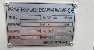고무 널을%s 편리한 이산화탄소 Laser 절단 조각 기계