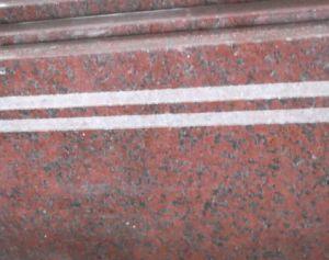 Pietra rossa del granito dell india mattonelle rosse della pietra