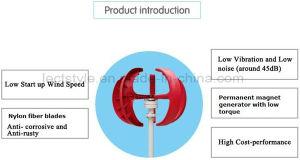 Turbine éolienne à axe vertical Vawt générateur 50W 12VCC léger et portable générateur de vent fort et calme