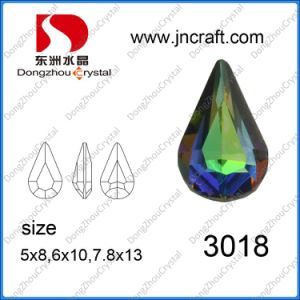 Cristal Pear-Shaped Fancy Pierre avec la griffe de métal pour les vêtements décoration