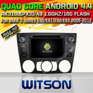 Automobile DVD del sistema del Android 4.4 di Witson per BMW E90
