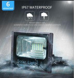 Proyector LED solares de alta potencia 100W portátil resistente al agua + remoto de la luz de vallas al aire libre