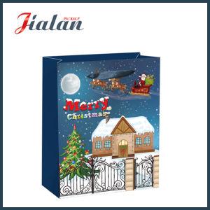 광택 있는 박판으로 만들어진 아트지 성탄 전야 쇼핑 선물 종이 봉지