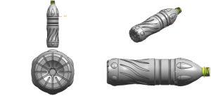 半自動2つのキャビティプラスチックびんのブロー形成機械