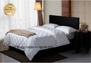 100%年の綿300tcのチェック模様のホテルの織物の寝具のホテルの寝具