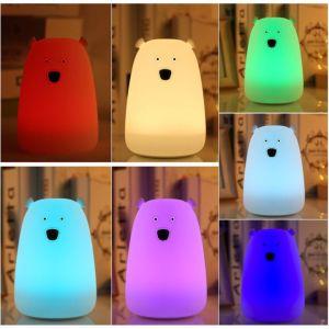 Buntes LED rührendes Nachtlicht der Qualitäts-für Baby mit weichem Silikon-Shell