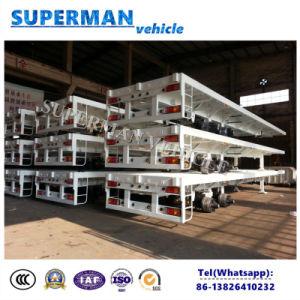 Zwei-Welle Flachbettbehälter-halb LKW-Schlussteil-heißer Verkauf