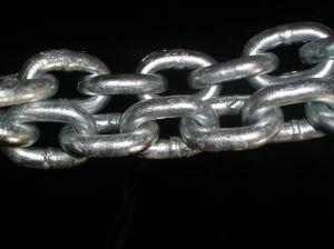 Оцинкованный сварной шов звено цепи DIN 766 на заводе