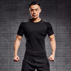 주문 로고를 가진 빠르 건조 습기 Wicking 남자의 적당 t-셔츠