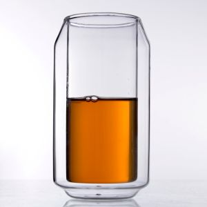 Getränk-Koks-Saft-Tee-Glas höhlt Silikon-Weinglas-Doppelt-Cup
