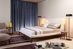 Современные спальни мебель из натуральной кожи мягкая двуспальная кровать,