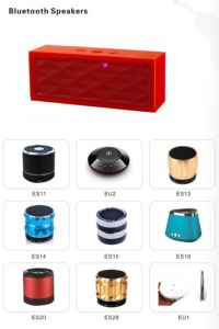 Logotipo personalizado Mini portátil Wireless Mini altavoz Bluetooth de luz LED