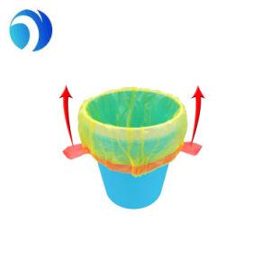 Cucina alta di stampa di colore dei rifiuti dell'HDPE del LDPE di mais della famiglia medica di plastica concimabile su ordinazione dell'amido biodegradabile con il sacchetto di immondizia del Drawstring