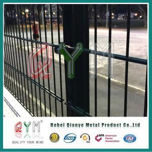 El Color Polvo cercas de alambre doble y sistema de puertas