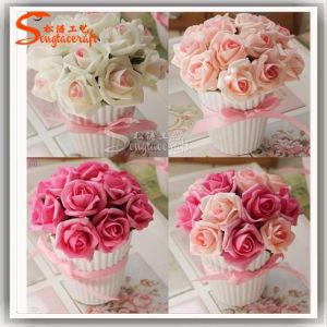 Flores artificiais Bonsai flor para decoração de interiores