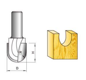 Modelo de ranhurar bico redondo Bit do roteador