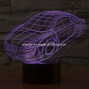 7 colores coche Audi 3D LED Lámpara de sobremesa de acrílico Visual