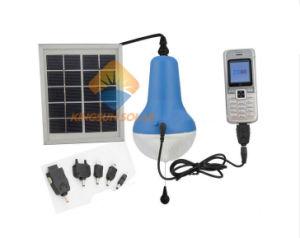 Lámpara Solar con cargador de móvil para el teléfono