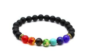 Armband van de Yoga van de Steen van het Gebed van Boedha van Reiki de Natuurlijke