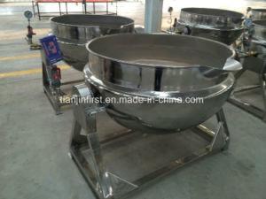 傾く大きい電気沸き、混合の鍋キャンデーのやかんを調理する