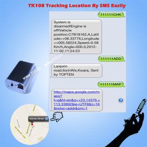 Pequeña alarma GPS para Seguimiento de Vehículos con combustible de vigilancia, Geo cerco, acelerando la Tk108-EZ