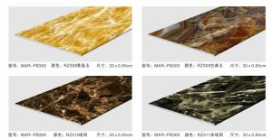 3 mm para o interior do painel de tecto decorativa com mármore UV para Hall