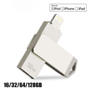 Флэш-накопитель USB 32 ГБ 64GB для iPhone 8 7 плюс молнии на металлические ручки привода