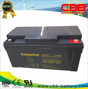 Fabricado na China Fabricante 12V65ah Bateria de chumbo-ácido selada de energia solar e sistema de Turbinas Eólicas