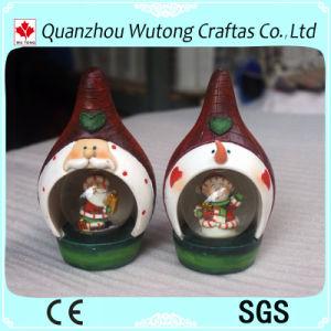 Bal van het Water van de Hars van de Decoratie van de Vakantie van de Bol van de Sneeuw van de Decoratie van Kerstmis van de Ambachten van de hars de Mini