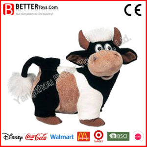 L'OEM En71 personalizza il giocattolo molle della mucca dell'animale farcito della peluche per i capretti del bambino