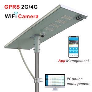 La luz de calle solar integrada con la cámara de Alta Definición y gestión remota de GPRS