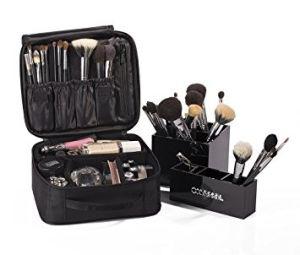 La mode, produits de toilette de Voyage Sac de maquillage se laver les cas de l'organiseur titulaire du dessin 3 couleurs Mallette Sac cosmétique