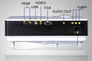 Büro, Schule-Ausbildungs-Fachmann, der LED-Projektor mit 3500 Lumen verwendet