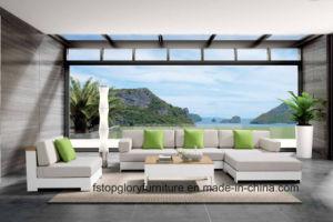 Ligas de alumínio com design moderno L Shape Sofá Definir Mobiliário de exterior