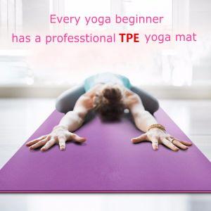 Stuoia di gomma ecologica di yoga di alta qualità TPE/NBR/EVA/Natural con il formato personalizzato