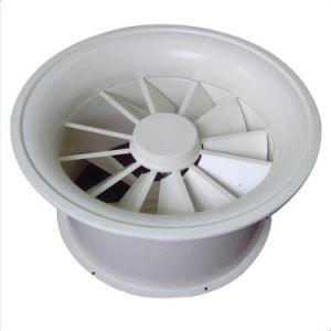 As Lâminas Ajustável em alumínio HVAC Ronda Teto difusor de ar da borboleta de turbulência