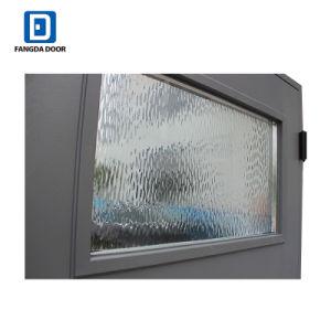 Portello esterno di Prehung della vetroresina grigia di vetro decorativa di infinità di Fangda