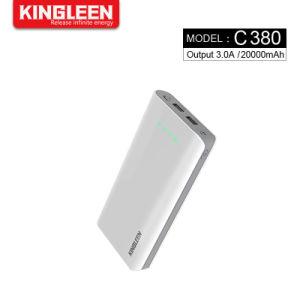 大きい容量力バンク20000mAhの携帯用充電器二重USBの出力iPhone SamsungのためのLEDライトが付いている外部携帯電話電池