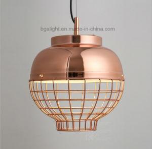 La Jaula moderno color cobre suspendido de la luz de techo colgante para el salón, tienda