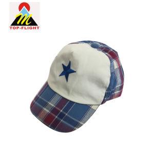 カスタム刺繍のゴムひもが付いている柔らかい綿の赤ん坊5のパネルの野球帽