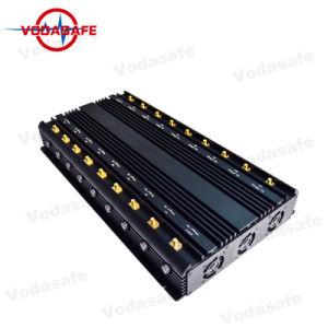 Hoge Macht 18 Stoorzender van het Signaal van de Antenne de UHFVHF, Regelbare 3G 4G GPS VHF van de Stoorzender van de Telefoon van Wimax UHFBlocker van het Signaal Bluetooth