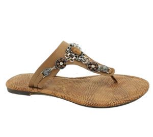 Womens Totem Rhinestone sandales de plage Flipflops Mesdames Gladiator chaussures occasionnel